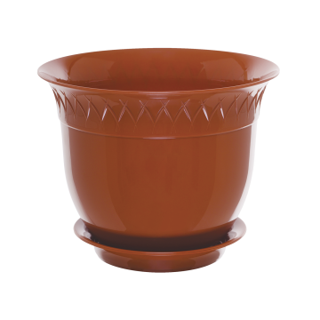Santino Flower Pot With Saucer LILIA